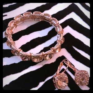 Jewelry - Rose Gold Bracelet & Earring Set